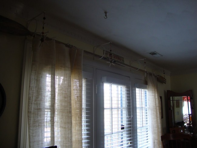 diy burlap curtains with creative rods