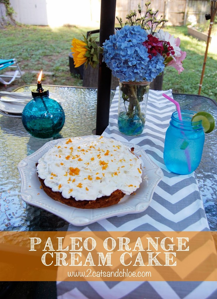 gluten free, dairy free, orange cream cake
