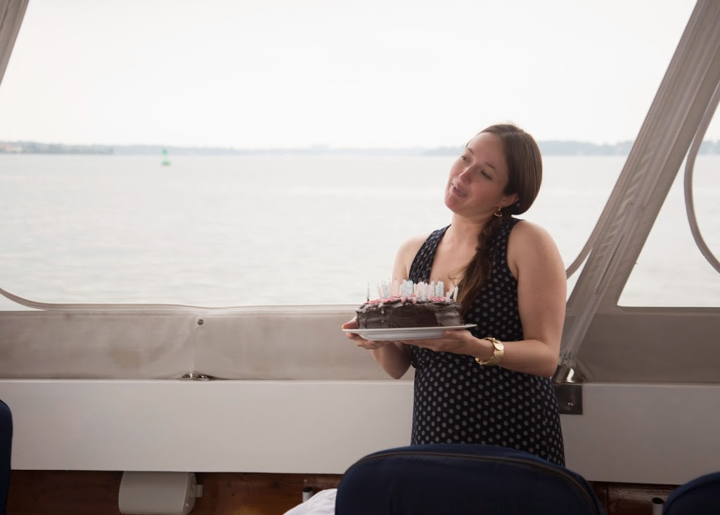 Birthday Cake on a Boat