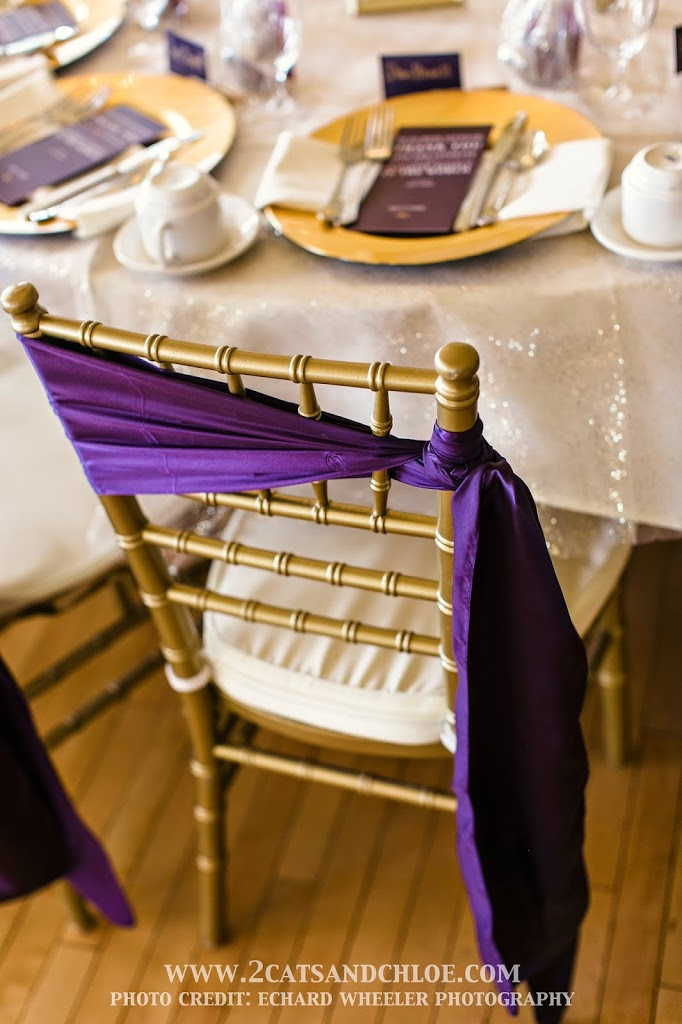Unique Chair Sashes on Chiavari Chairs