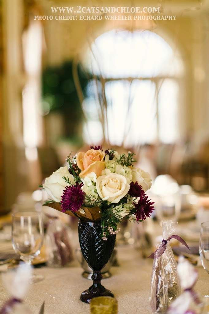 Southern Glam Wedding Centerpieces