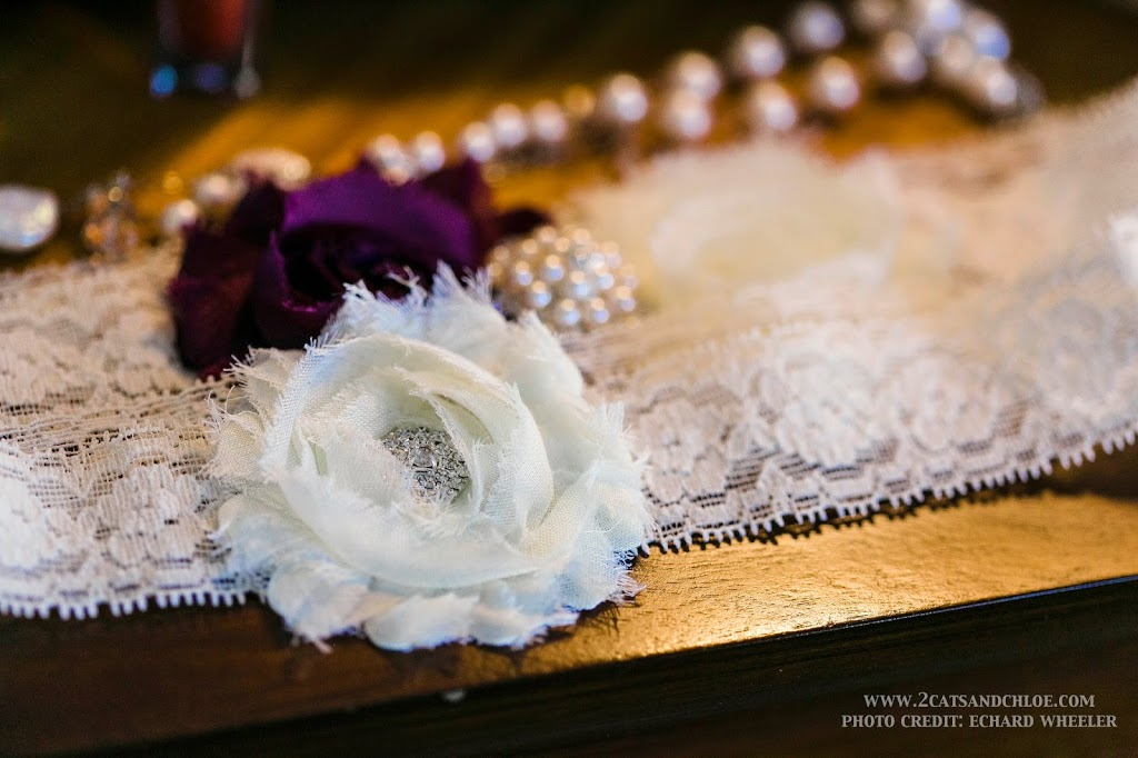 Glam Eggplant Purple Wedding Garter