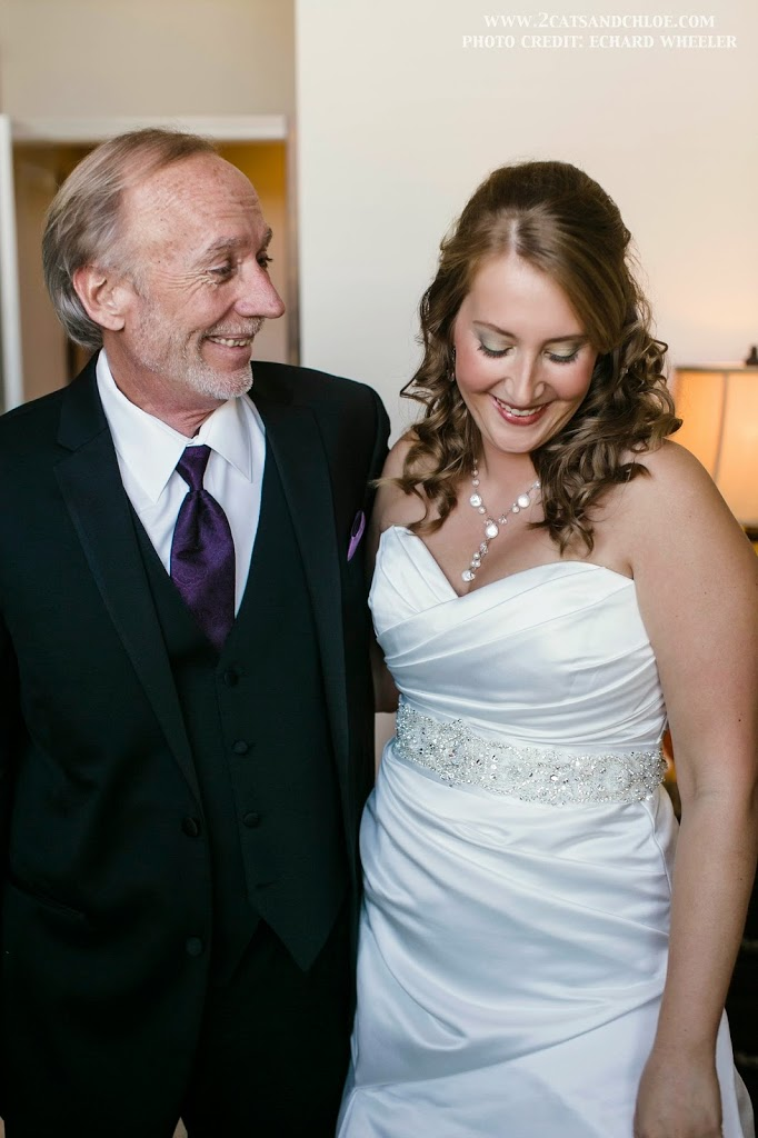 First Look with my Dad on my Wedding Day