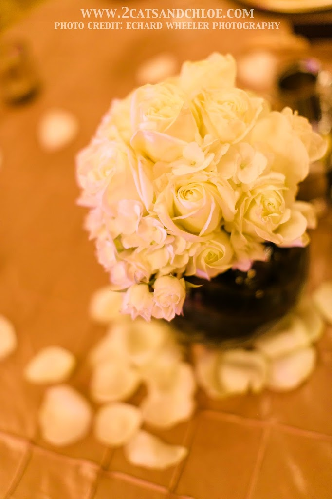 DIY White Rose Wedding Centerpiece