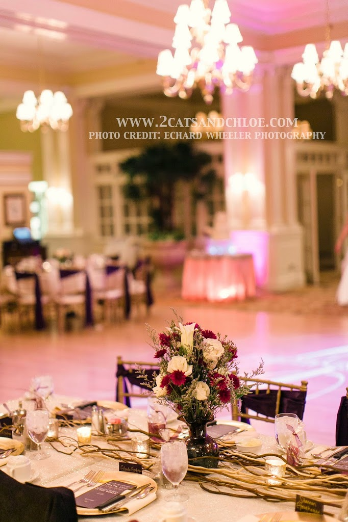 Glam Wedding with Sticks as Table Runner
