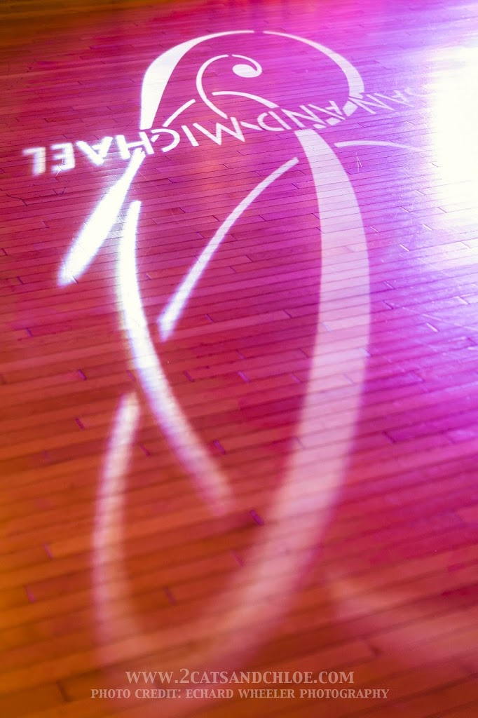Wedding Gobo on Dance Floor Example