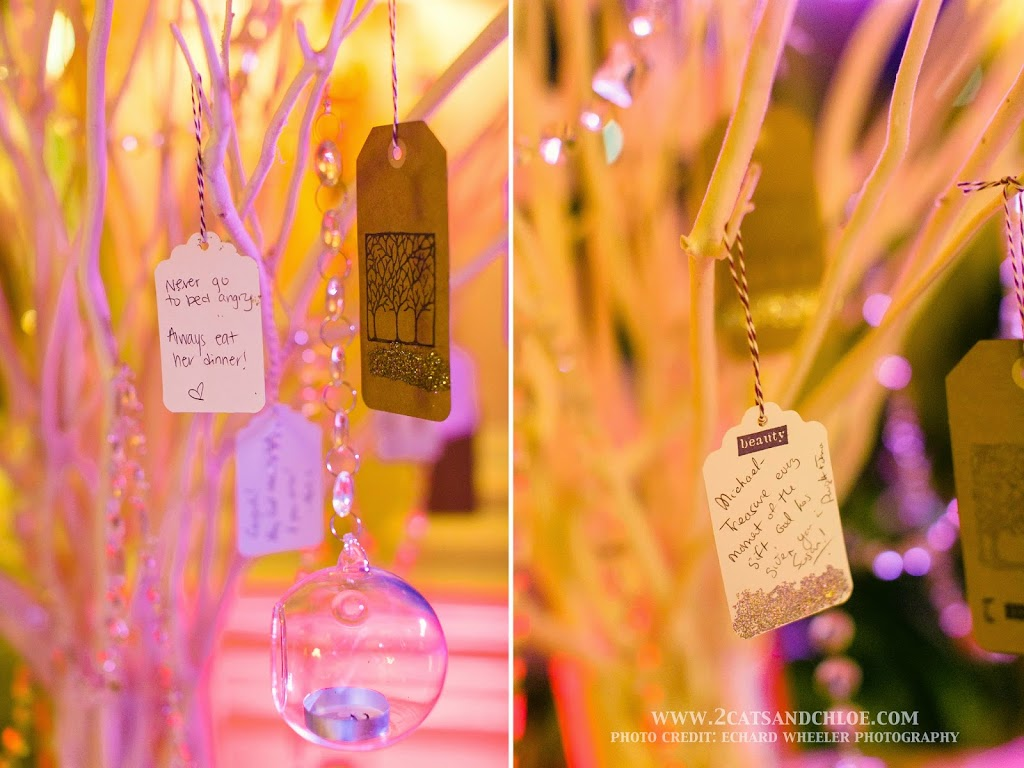 DIY Unique Wedding Wish Tree Wishes on Gift Tags