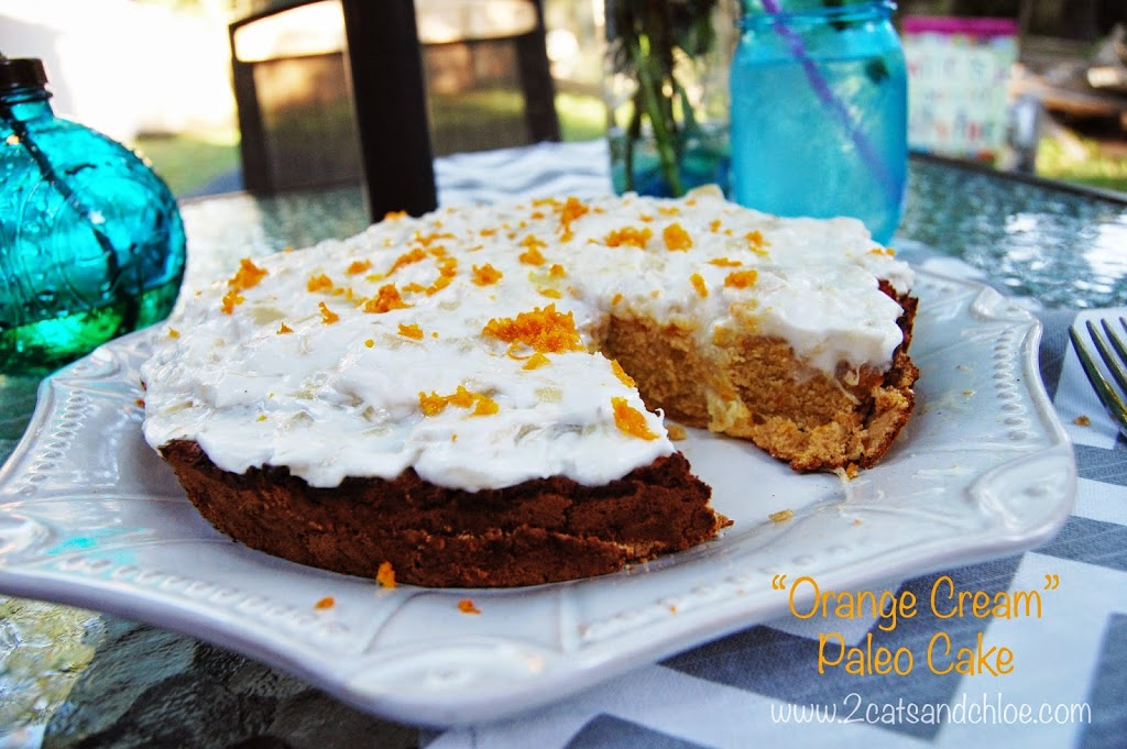 paleo gluten free orange cream cake recipe