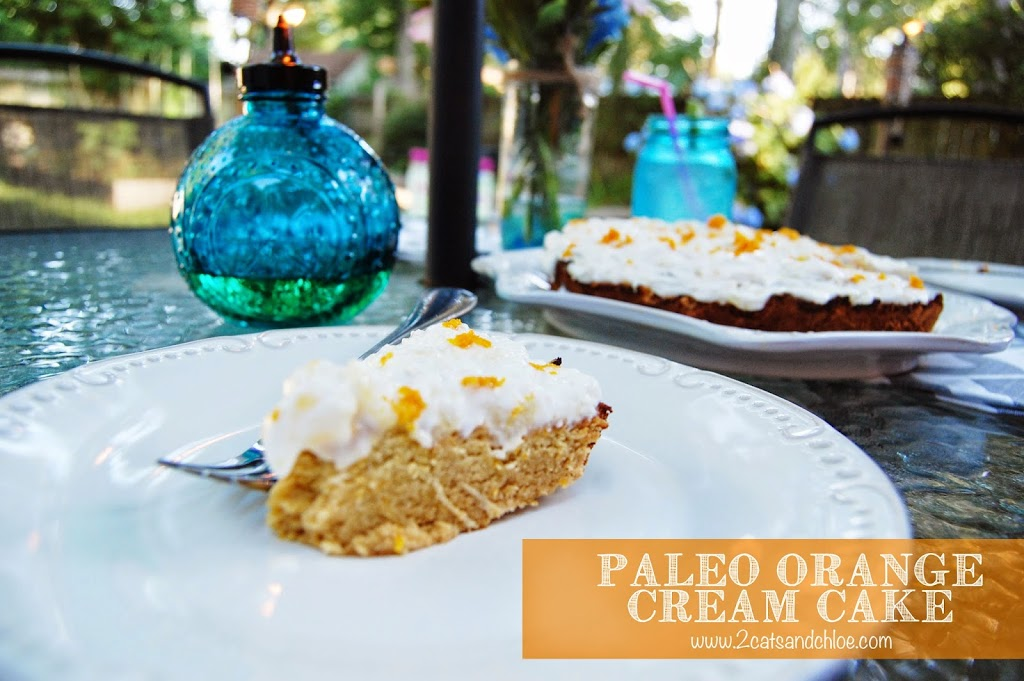 paleo orange cream cake