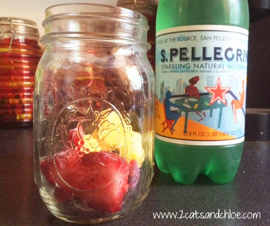 whole30 sangria mocktail with sparkling water