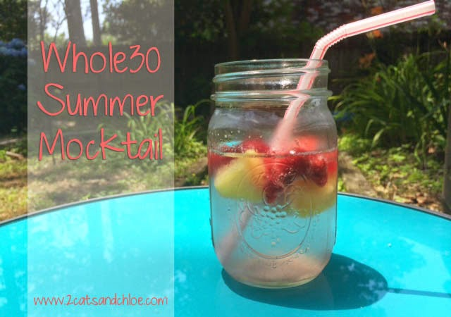 whole30 sangria mocktail