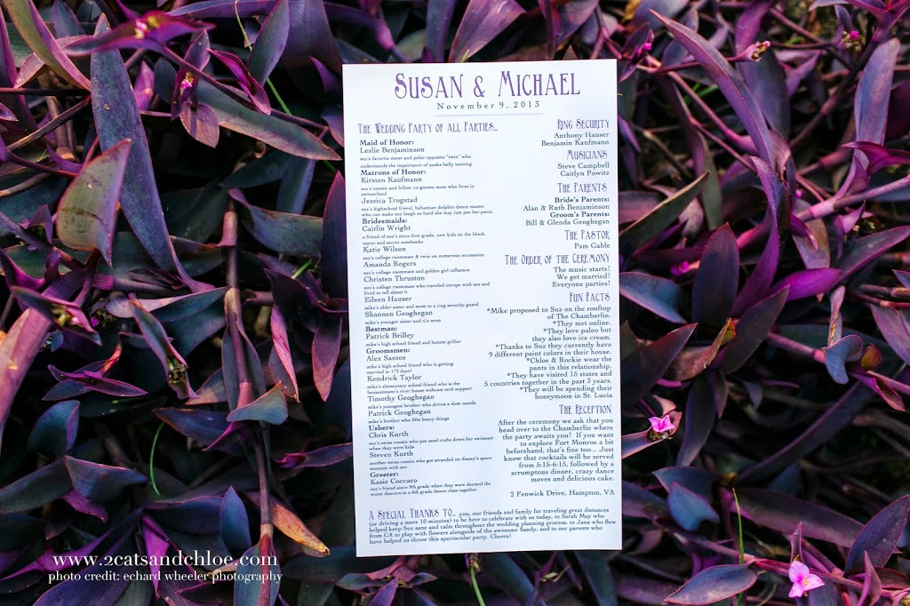 DIY Wedding Program Printed at Home