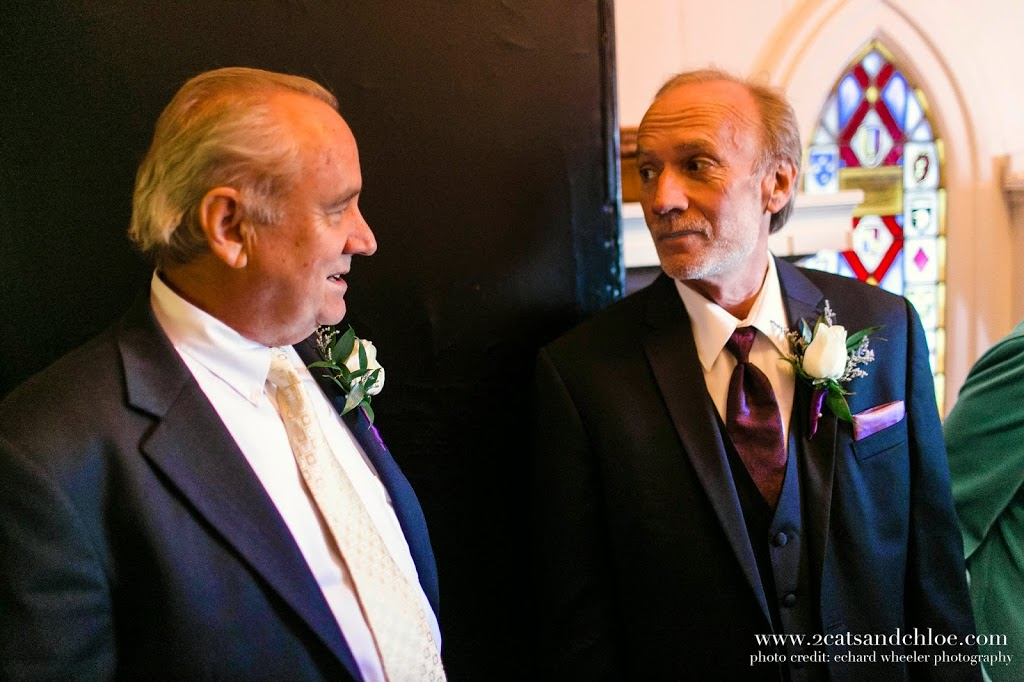 Father of the Bride and Father of the Groom before Wedding ceremony, Hampton VA