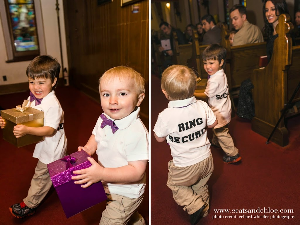 Ring Security Ring Bearers!  DIY Shirts and Bow Ties for Ring Bearer