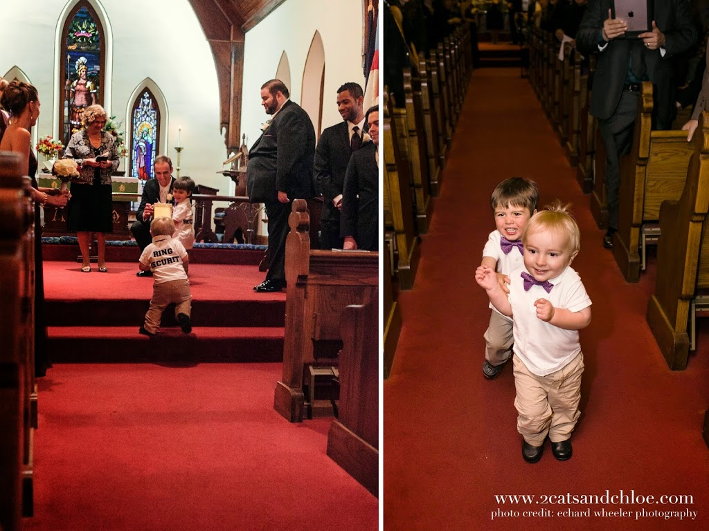 Wedding Ring Security, Ring Bearers with Glittery boxes!