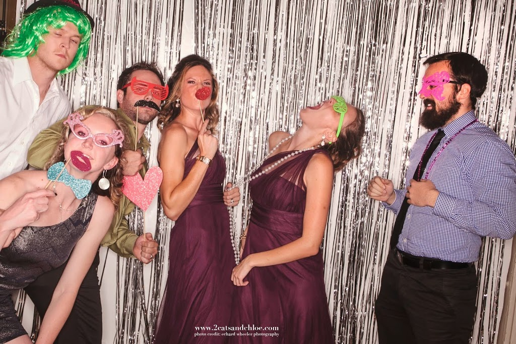 Dancing in the wedding photo booth