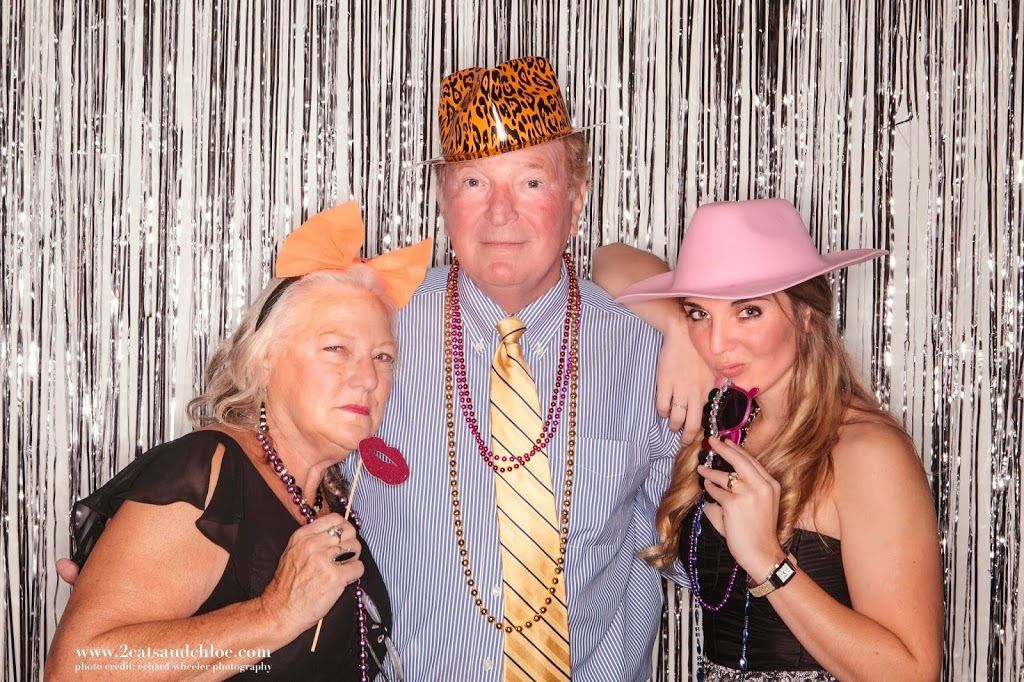 Family in wedding photo booth - hampton roads wedding