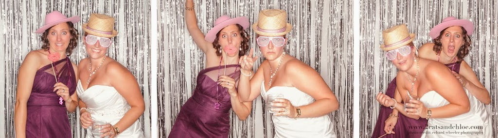Matron of Honor and Bride in Photo booth