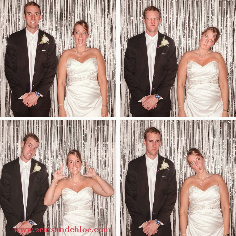 Just Married in Wedding Photo Booth