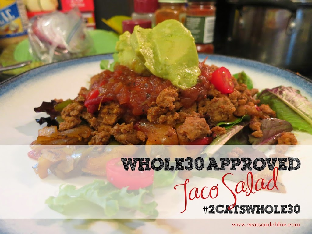 Whole30 and Paleo Approved Taco Salad and Seasoning