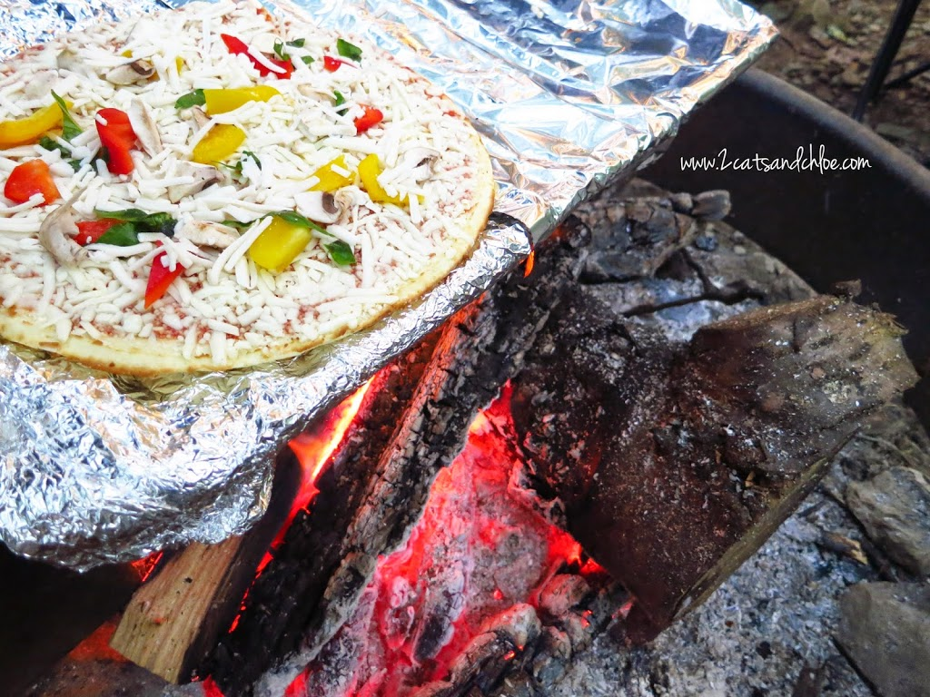 Grilled Pizza over the campfire