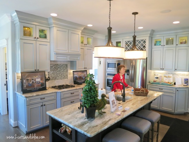 Homearama kitchen white cabinets
