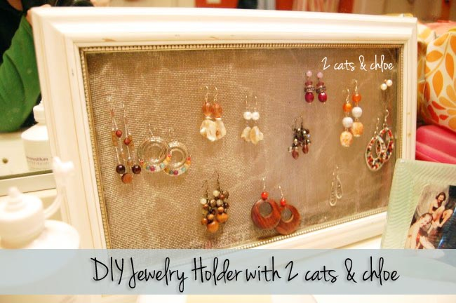 2 cats & chloe DIY Jewelry holder