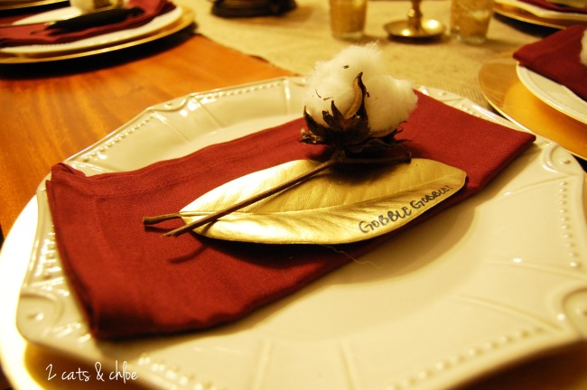 Cotton Plant at Place Setting