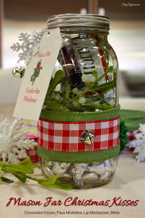 Frugelegance: Mason Jar Gift: Christmas Kiss Kit