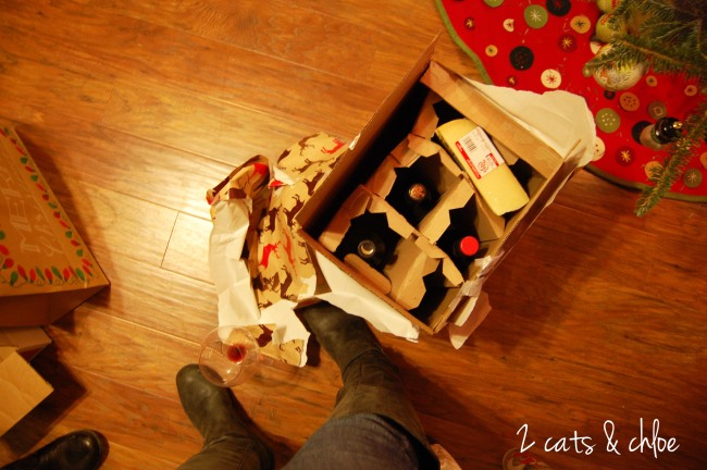 2 cats & chloe: best christmas exchange gift is... wine!