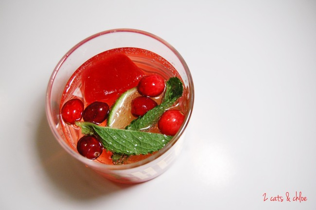 2 cats & chloe: Paleo Holiday Cocktail, Cranberry Lime Spritzer
