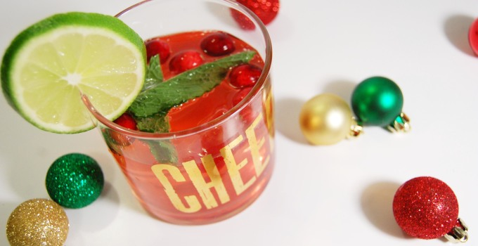 Whole30 Approved: Mint Cranberry Lime Spritzer