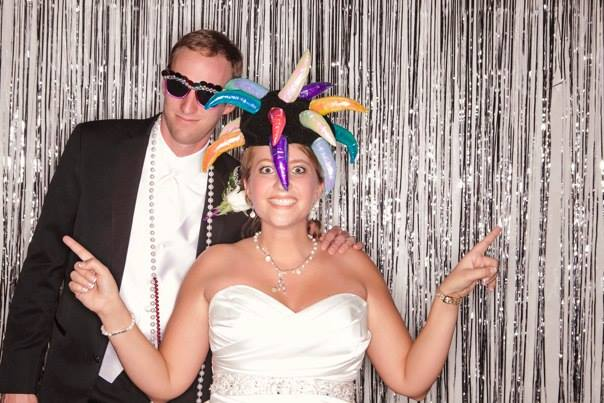 Wedding Photobooth Picture of bride and groom