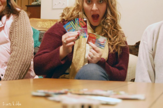 2 cats & chloe - LRC game, lotto tickets, new years eve fun
