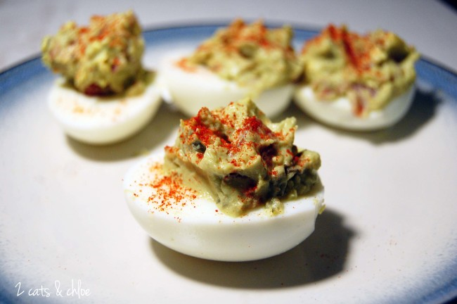 Deviled Eggs with Guacamole