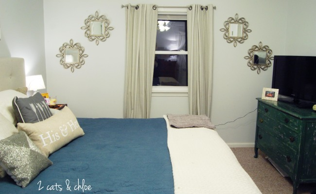 2 cats & chloe: Glam Master Bedroom //  Grey tone bedroom