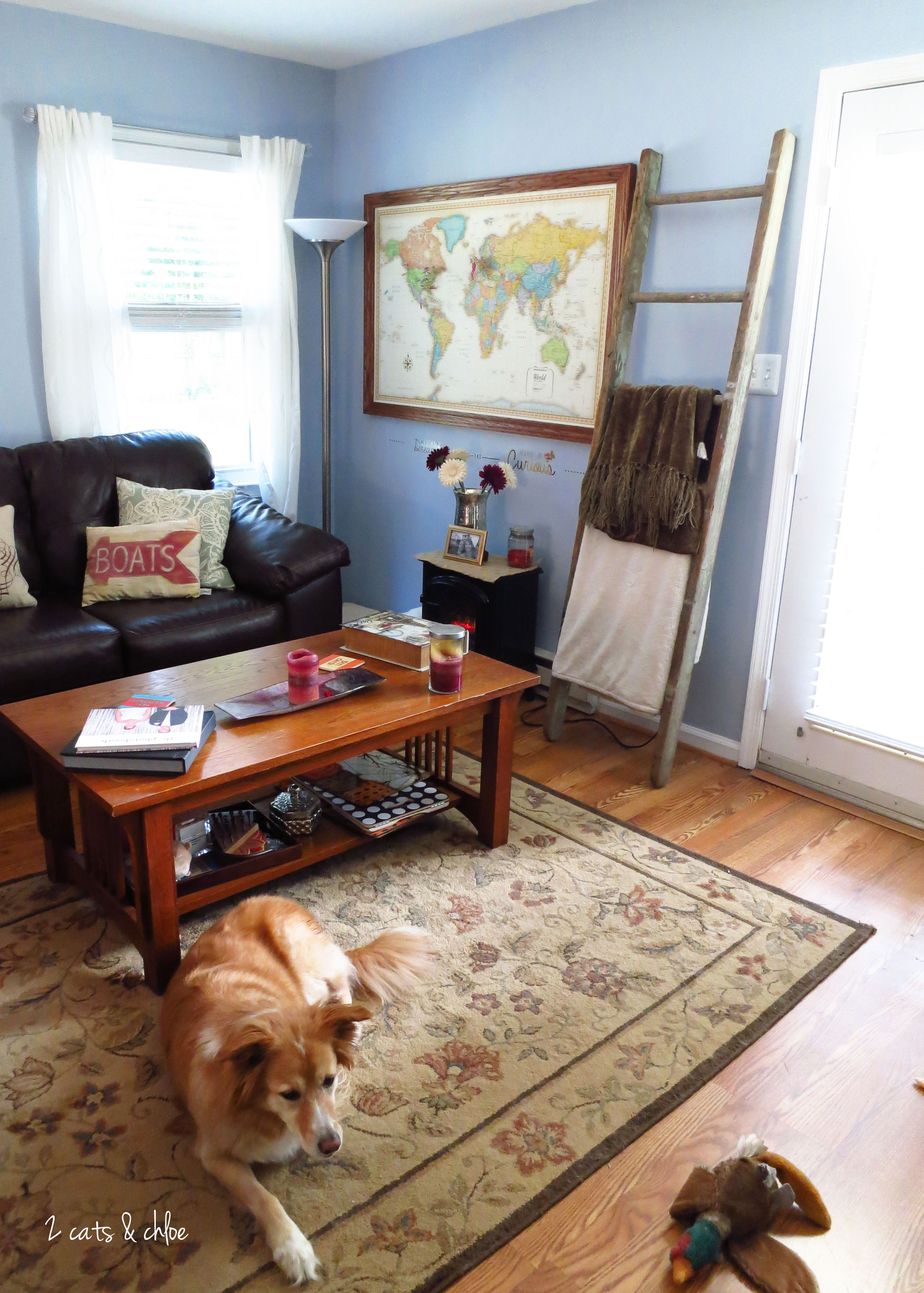 CELETE SOUTHERN: Home Map Decoration - 2 Cats and Chloe on