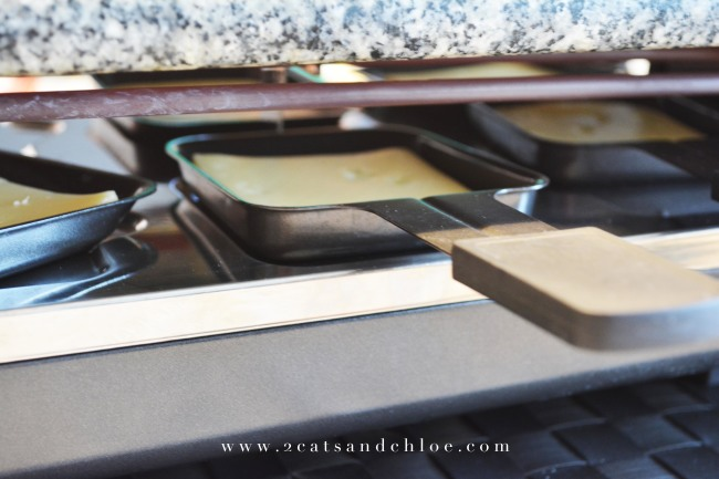 Raclette servers on griddle