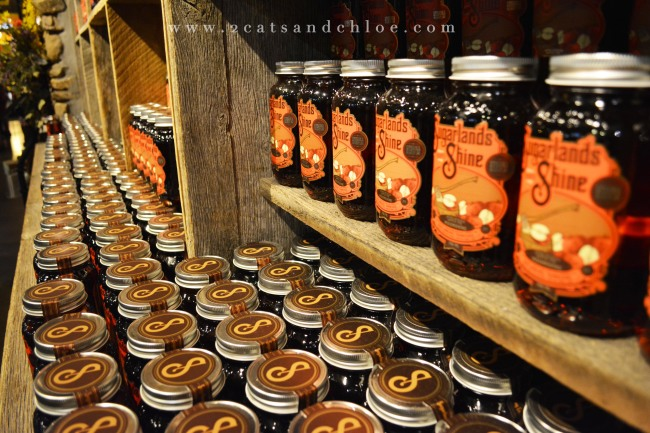 Mason Jars full of Moonshine, gatlinburg, TN