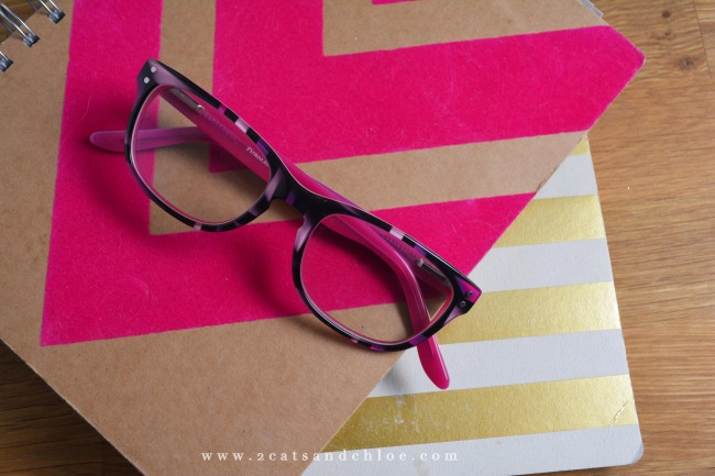 2 cats & chloe: pink and black firmoo glasses