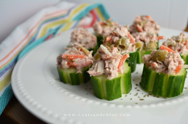 2 cats & chloe: Tuna Salad with Cucumber  // Whole30 Tuna Salad