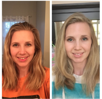 results with monat //  katie's hair before and after