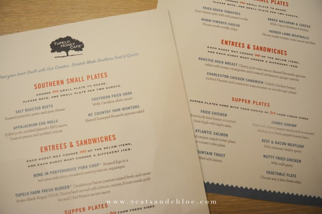 2 cats & chloe: Tupelo Honey Va Beach Menu  // Virginia Beach Dining