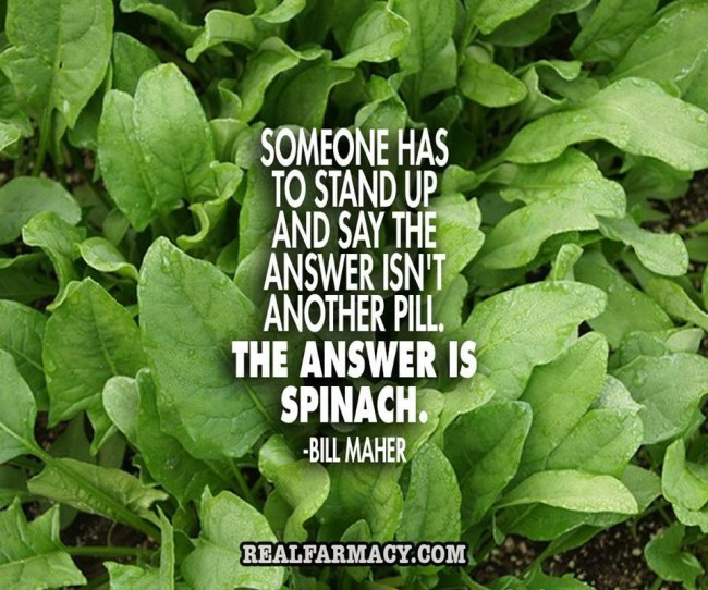 Spinach is the answer!
