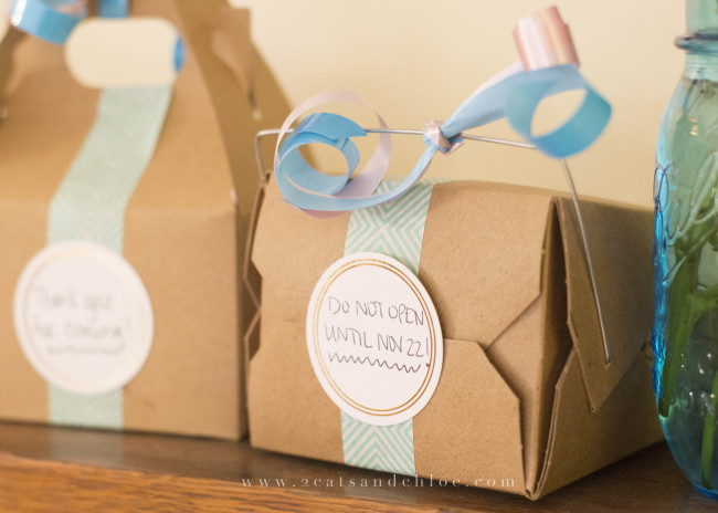 2 cats & chloe: Gender Reveal Mail Out Gifts + Favors