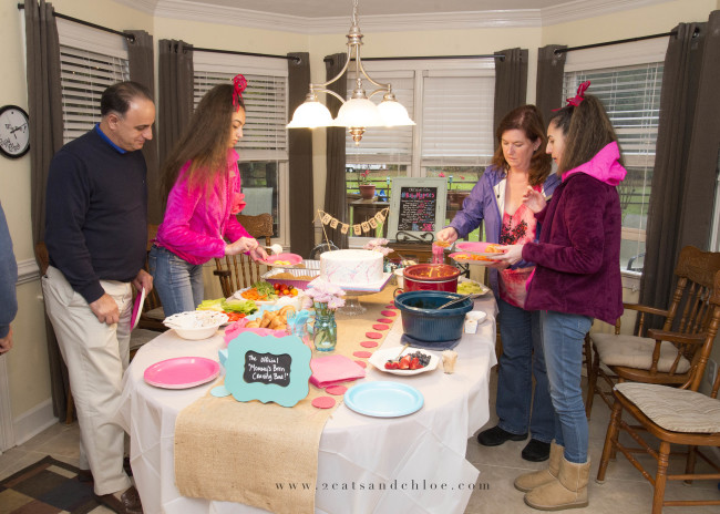 2 cats & chloe: Gender Reveal Party Buffet Food