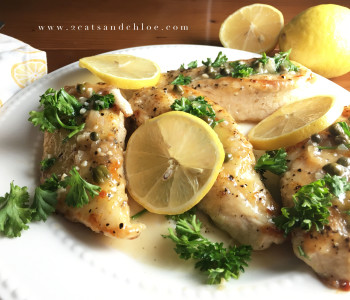 Paleo, Whole30 Lemon Chicken Dinner