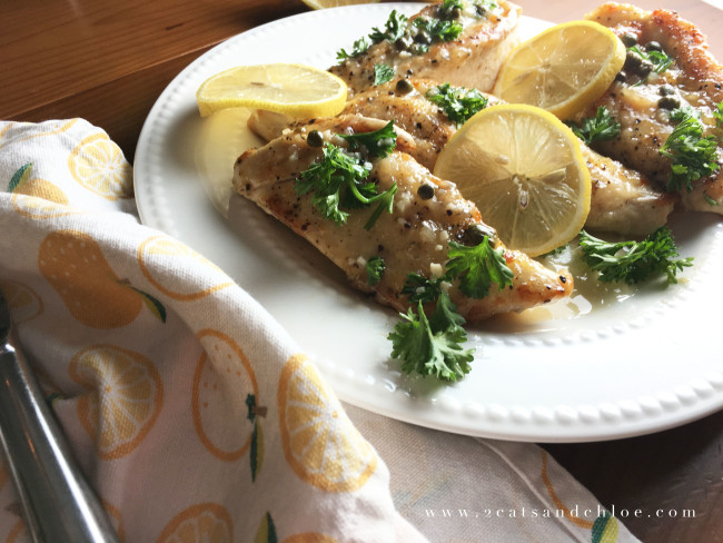 2 cats & chloe: Whole30 Approved Lemon Chicken Dinner