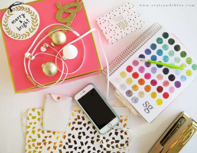 2 cats & chloe: Glam and Glittery Office Supplies Box