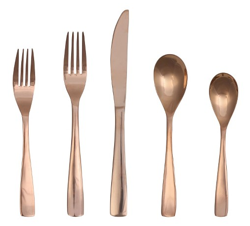 Stocking Stuffer: Target Rose Gold Flatware